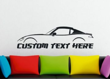 Large Custom car silhouette wall sticker - for Mazda MX5 / Miata RF Coupe (closed top) ND | 4th gen